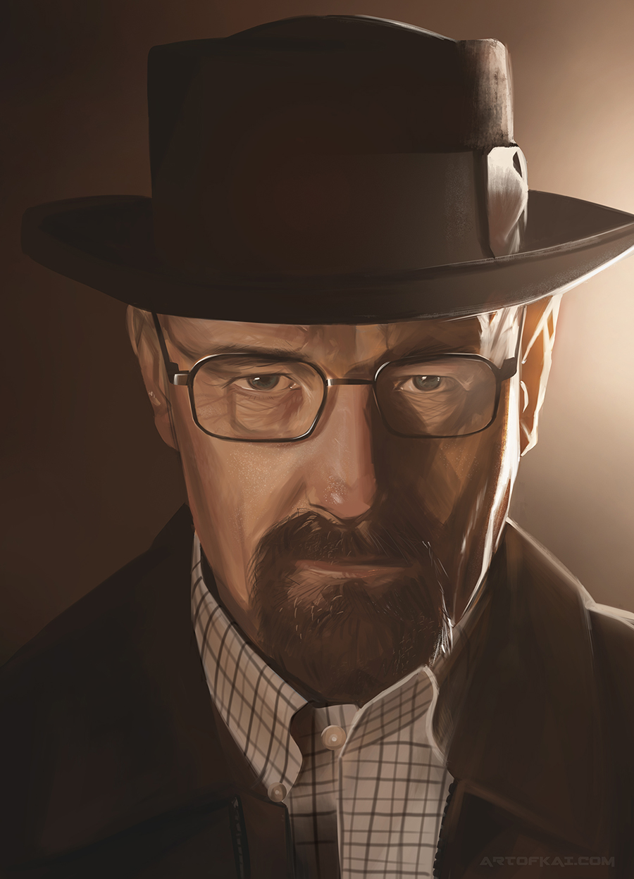 Walter White Heisenberg study by BaconKai on DeviantArt