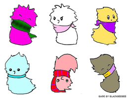 FREE Fluffy Blob Adoptables [OPEN] by CuteKawaiiNekoGirl