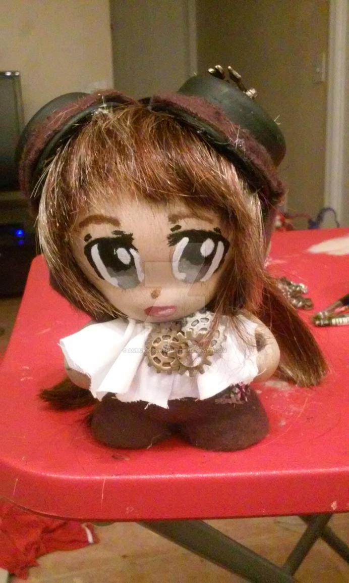Steampunk Munny doll (front) better lighting by Auruka-Sunshine