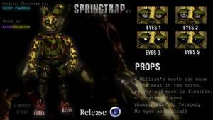[FNaF/C4D] Springtrap v1 Release
