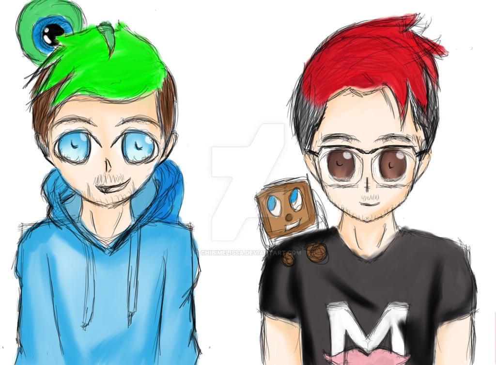 chibi markiplier and jacksepticeye - photo #42