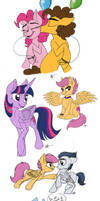 Really, ANOTHER MLP Sketch Dump? by Celestial-Rainstorm