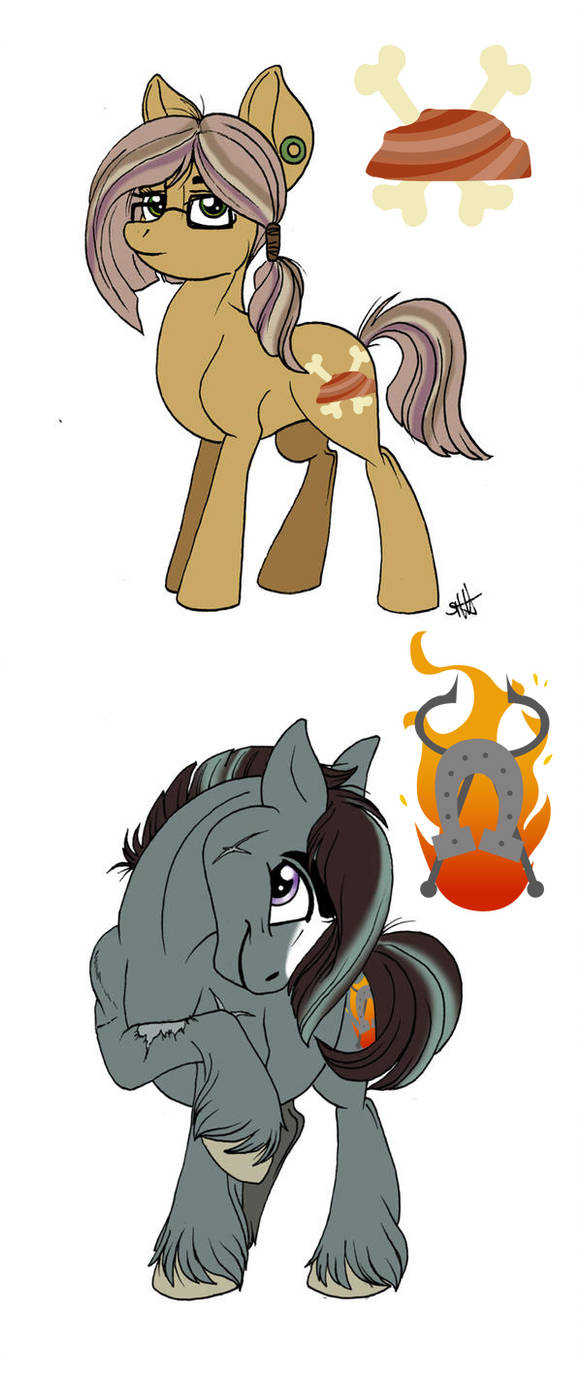 MLP Next Gen: Sandstone Pie and Iron Forge by Celestial-Rainstorm
