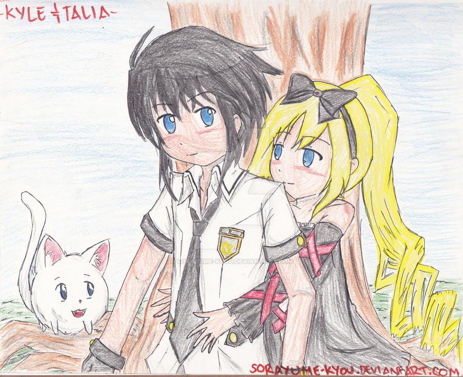 Vocalize's OCs: Kyle and Talia by sorayume-kyou