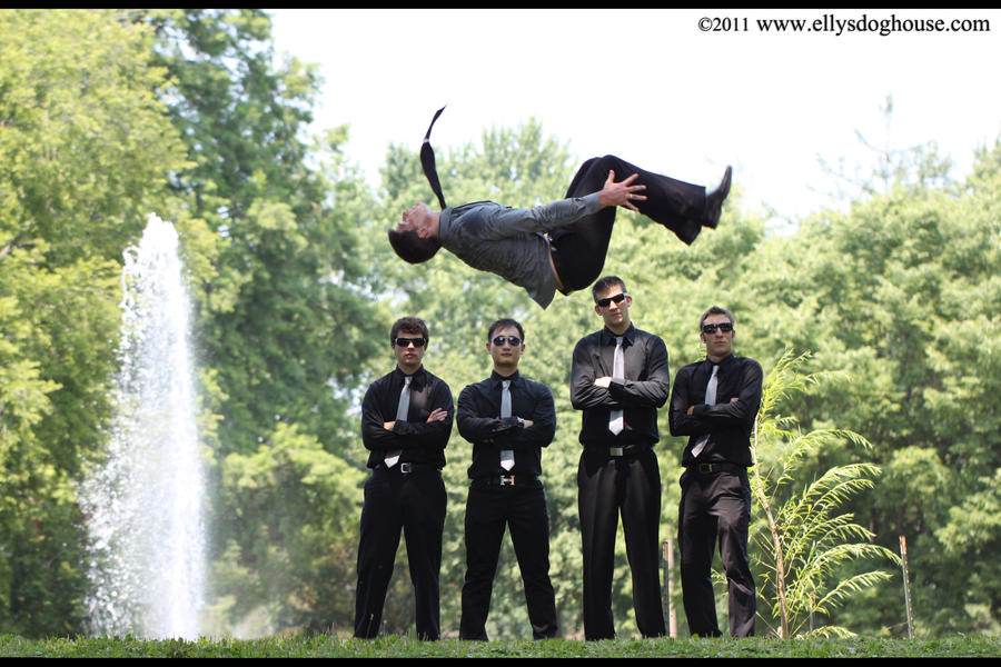 Freerunner - Gymnast Wedding: Back Tuck by ellysdoghouse