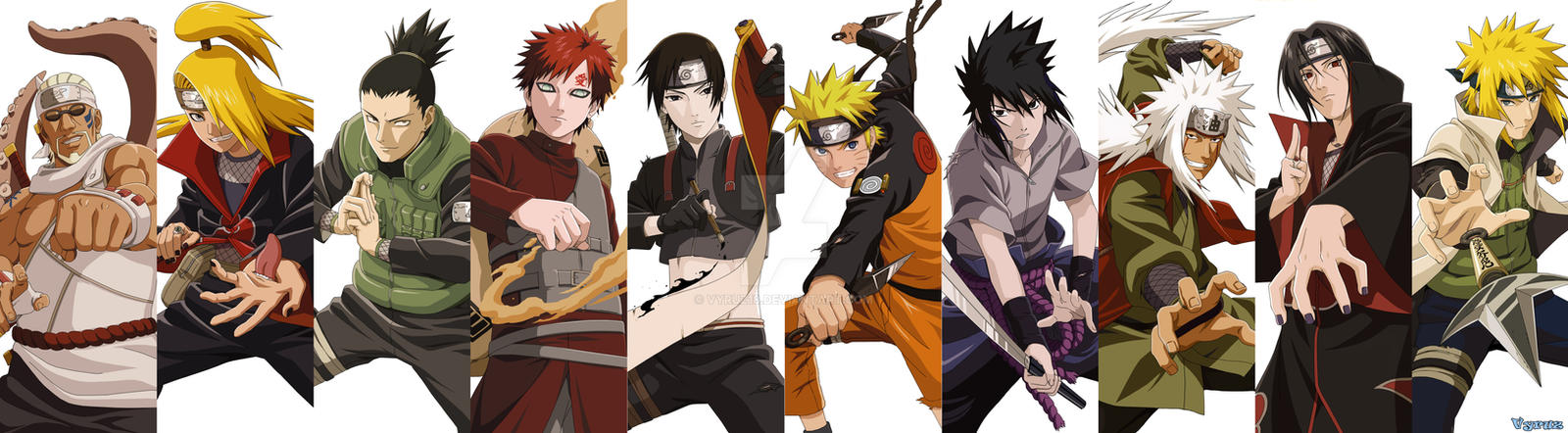 naruto mural 10 15 characters finished by vyruz18 on