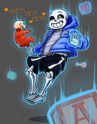 Sans Special Powers by BlitzingBullet