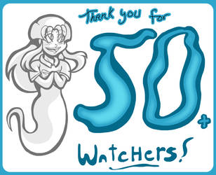 Thank You for 50 + Watchers! by undeadfriend