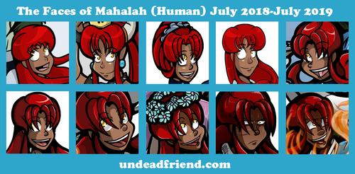 Undead Friend Faces 2018-2019 Mahalah by undeadfriend