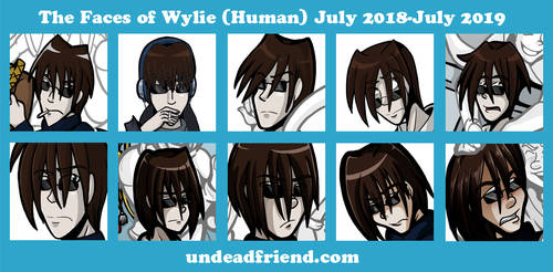 Undead Friend Faces 2018-2019 Wylie Kurosawa by undeadfriend