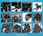 Undead Friend Comic Art Evolution 2018-2019 Part C by undeadfriend