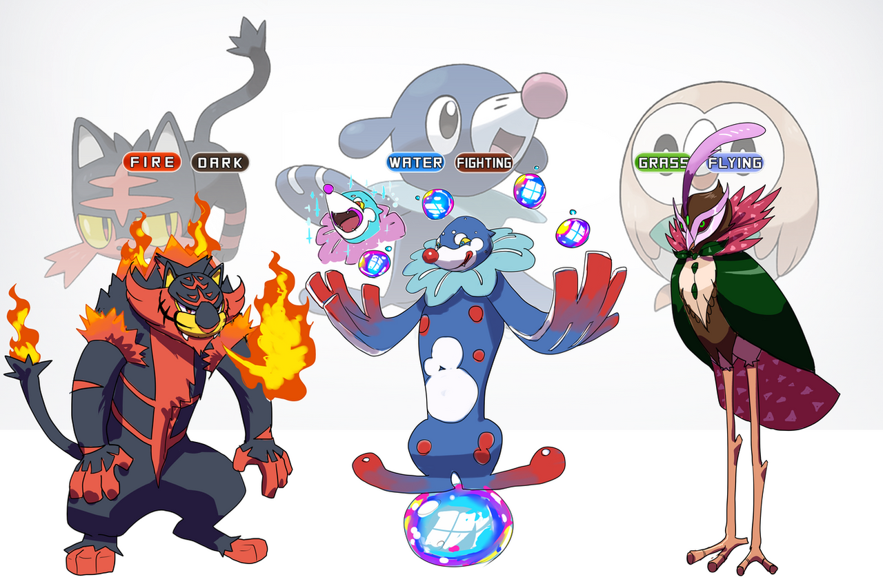 Litten,Popplio and Rowlet fake final evolution. by pablog143 on ...