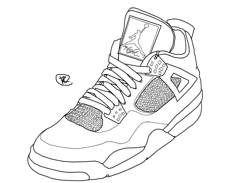 nike air jordans drawing
