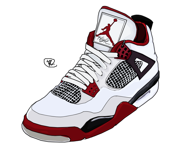 Nike Air Jordan Drawing In Colour by iamkezzyy ...