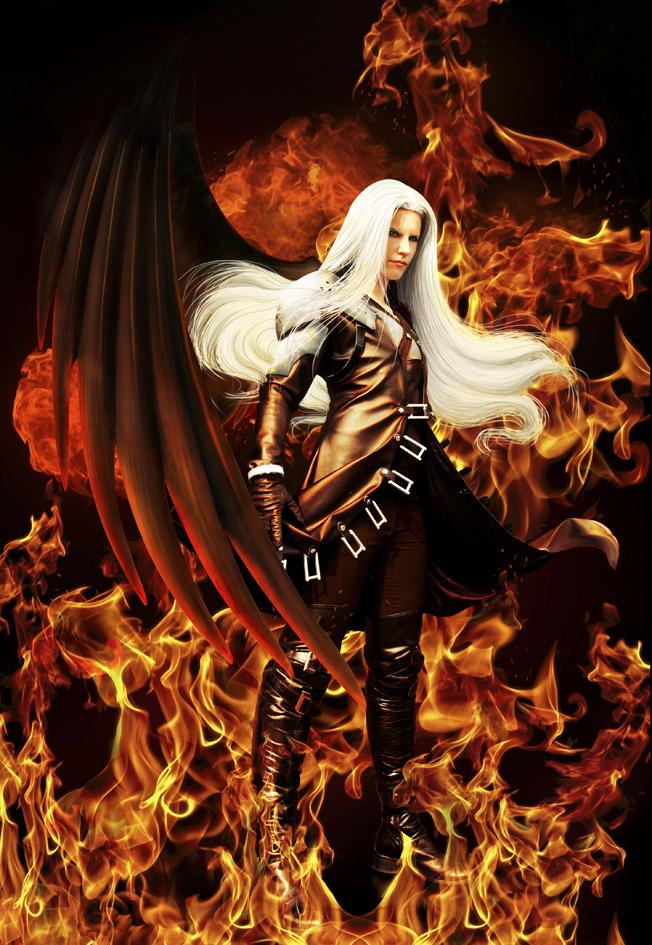 Sephiroth: Burning Angel Black by Pyro911