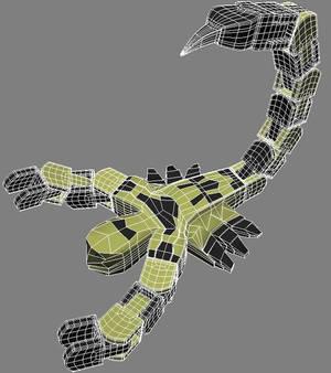 Scorpion Toy Posed Polys