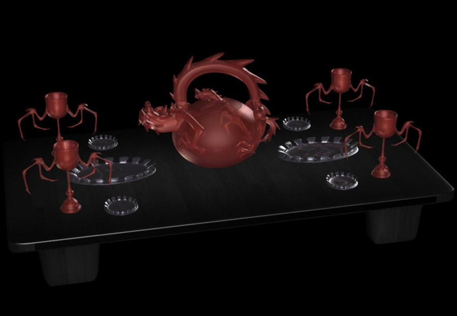 Dragon Teaset 1 by ChozoBoy