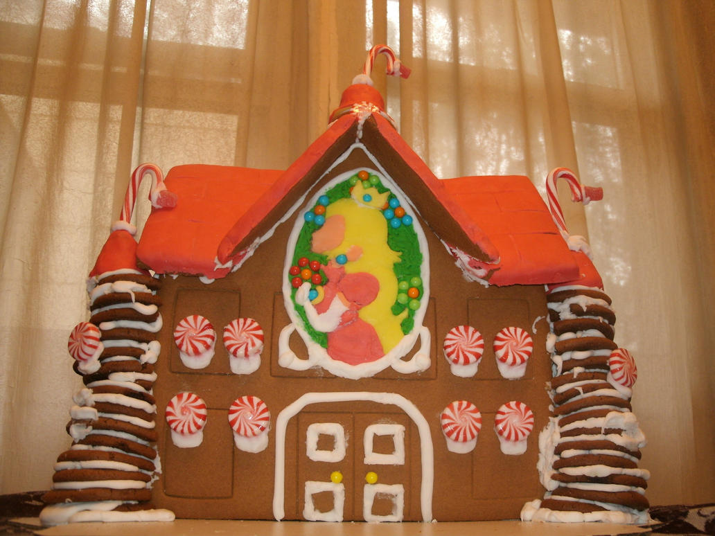 Peach's Gingerbread Castle by ChozoBoy