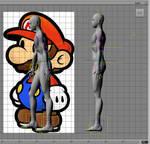 Costume Design concept 2012 Paper Mario