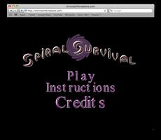 Spiral Survival Title Screen