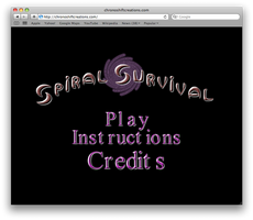 Spiral Survival Title Screen
