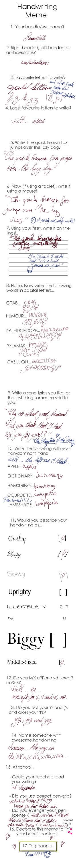 Handwriting meme by ReineHela