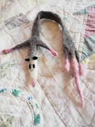 Felted Possum Bookmark by carmenpeach