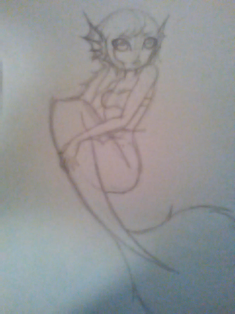Pandora as a mermaid WIP by Music-Junkie-Blaze