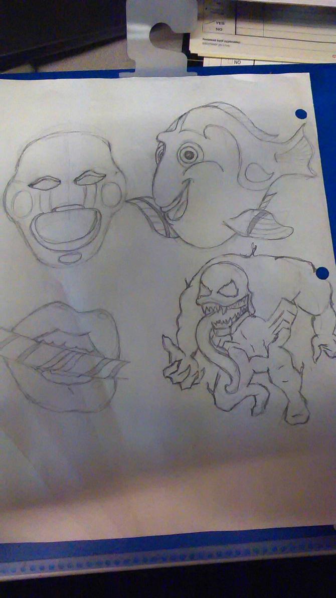 random sketches by Tigresuave11