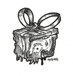INKTOBER Day 28 - Gift by Insalival