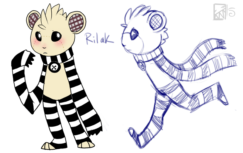 New Kitical OC- Rilak by Kinla