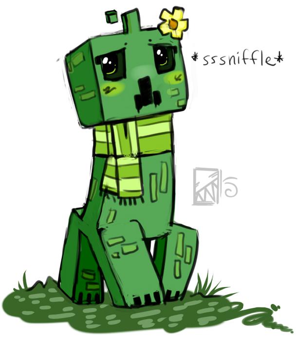 cute creeper drawing