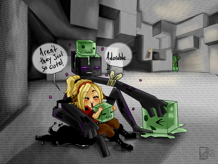 minecraft cute slimes by kinla on deviantart