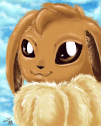 Eevee Portrait by TsukiButterflah