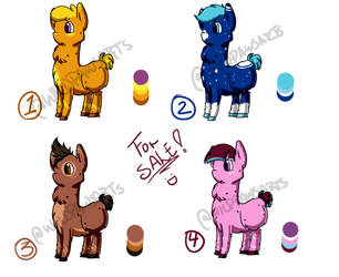 ADOPTABLES - OPEN SALE by TsukiButterflah