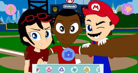 Mario Fireballs: An Unstoppable Trio by AnimatedOne