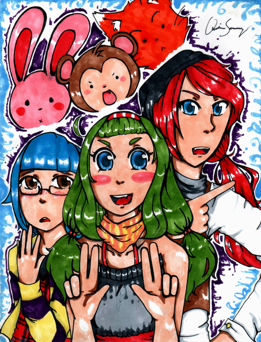 Childhood Friends by PaintedCerulean