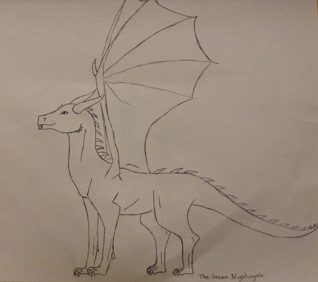 Dragon sketch by TheGreenNightingale