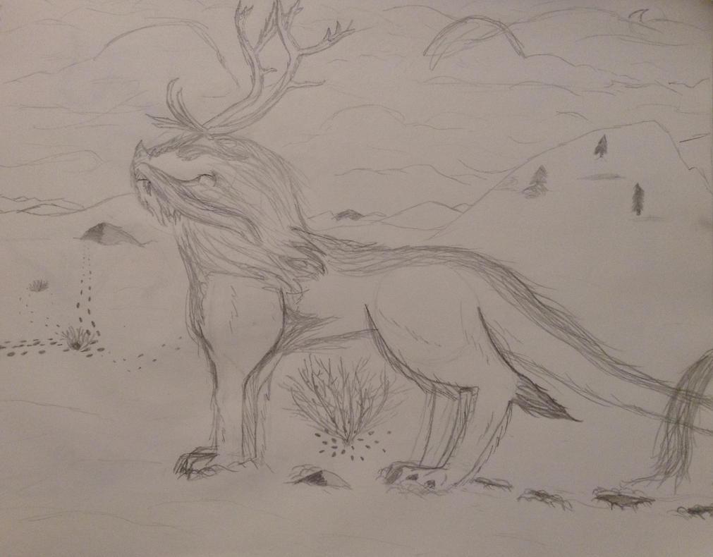 Snow dragon by TheGreenNightingale