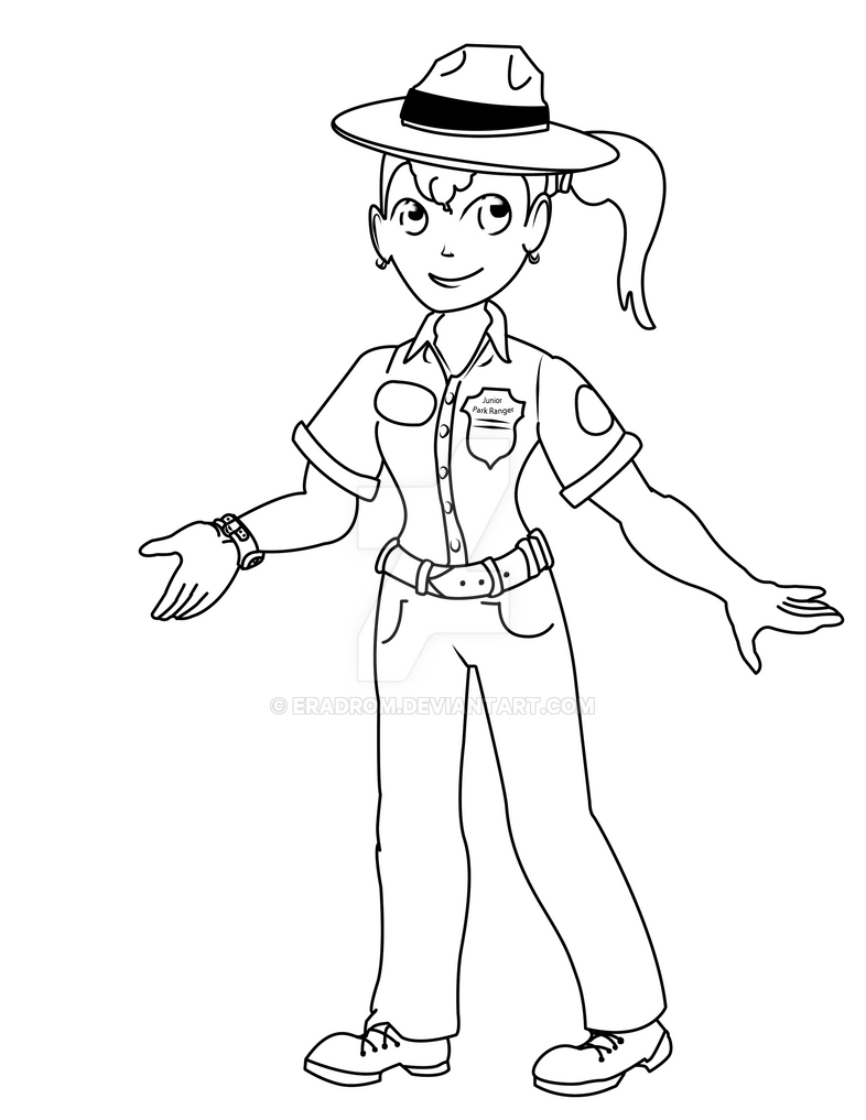 junior park ranger girl anna by eradrom