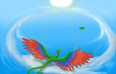 Dragon In Flight by Eradrom
