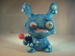 Little Blue Monster with Sucker by DFed