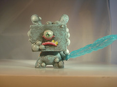 Little Grey Monster with Light Saber by DFed
