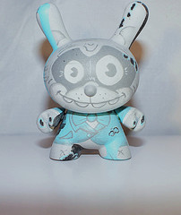 custom 3 inch vintage raccoon dunny in tux by DFed