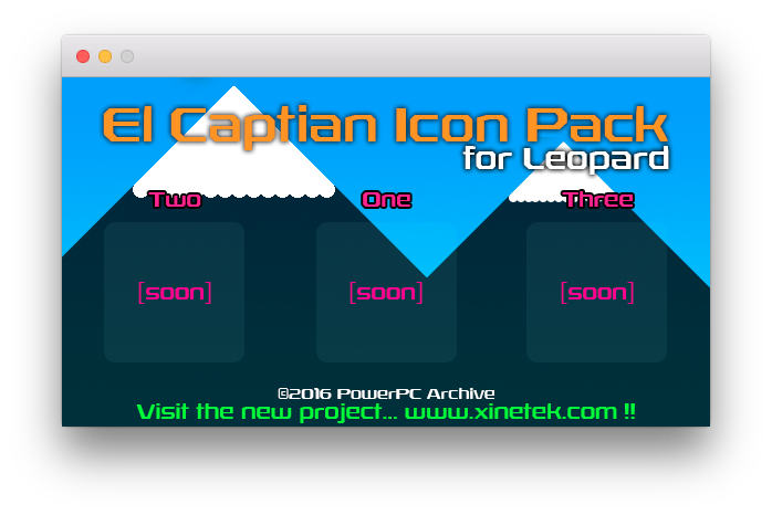 El Capitan Icon Pack for OS X Leopard by x360live