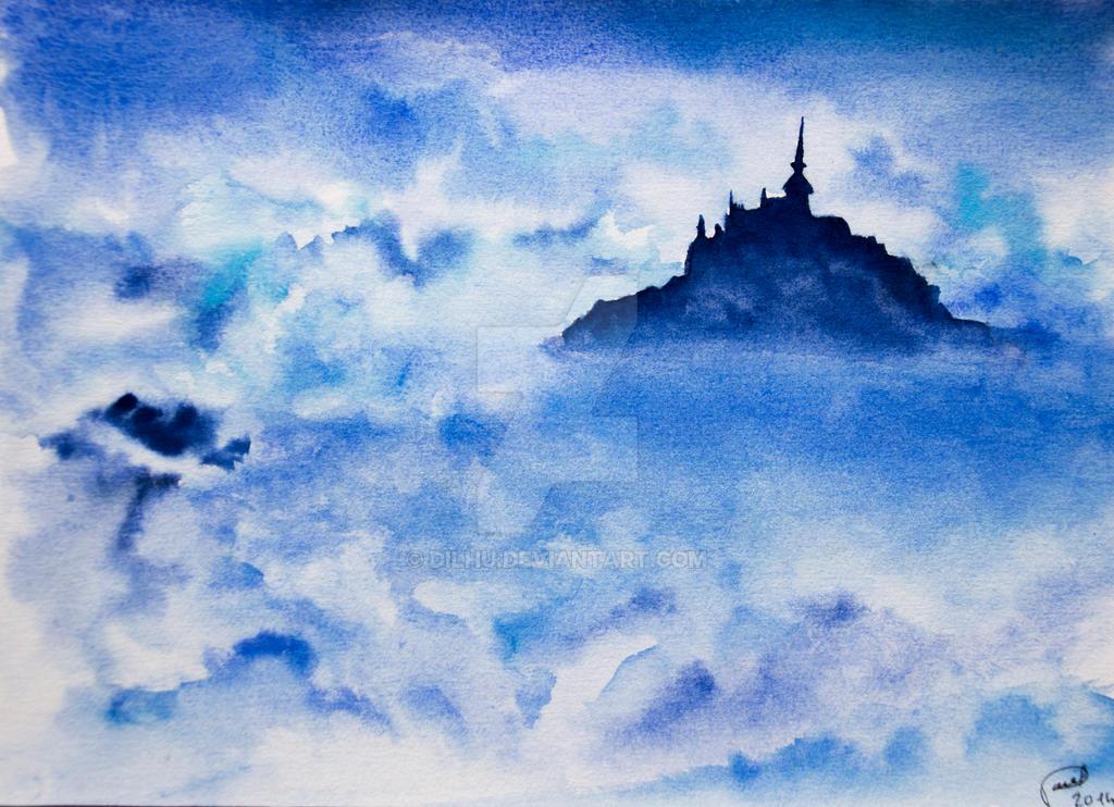 Paysage nuageux - Misty landscape by Dilhu