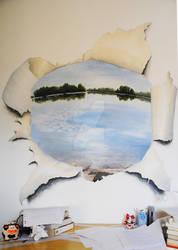 Trompe l'oeil lac / Tompe l'oeil of a lake