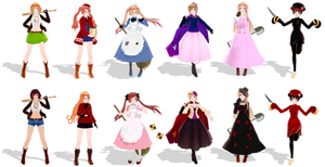 {MMD APH} Nyo!Allies DL+Pass~