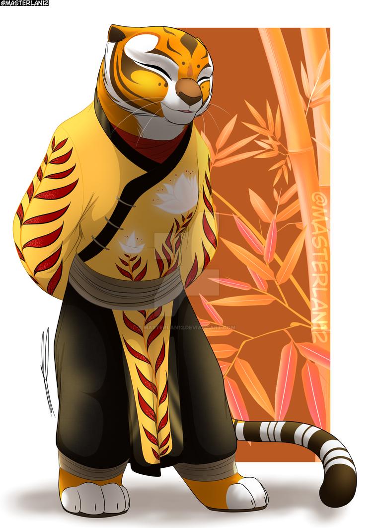 Kung fu panda Master Tigress colored by hope30789 on