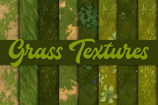 Hand-painted grass textures - Tileable